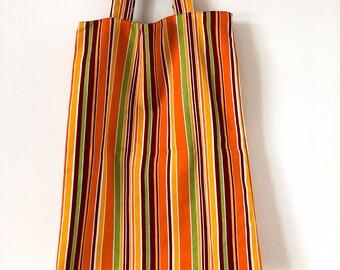 Stripe Reversible Tote Bag