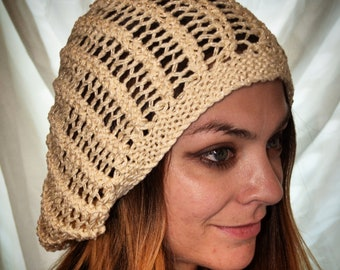 Lightweight Slouchy Open Knit Hat cd3d66ece1b