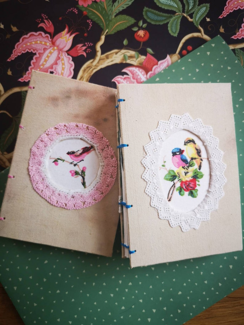 Cute A6 watercolor sketchbook vintage artjournal 300g paper image 0
