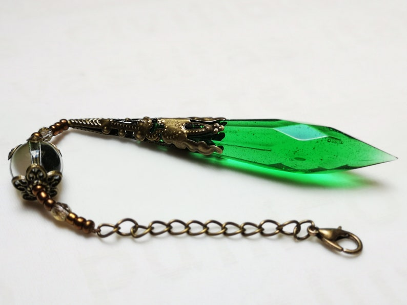 Crystal pendant charm green crystals magic pendant hanger 2
