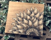 Rustic Sunflower Wall Art Wood Sign