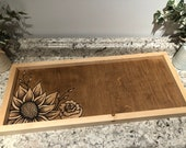 Painted Rustic Sunflower and Roses Wall Art Decor Sign