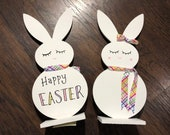 Easter Bunny Wood Sign Decor
