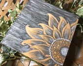 Metallic Sunflower Art Home Decor
