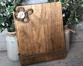 Rustic Wood Photo Holder Home Decor