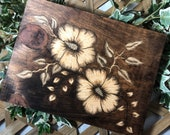 Hibiscus Flower Wood Sign