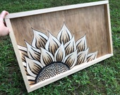 Sunflower Framed Wood Sign