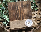 Rustic Wood Photo Holder