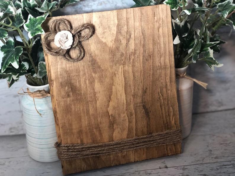 Rustic Wood Photo Holder Home Decor image 0