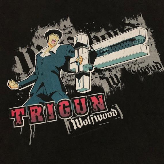 Trigun Vintage T Shirt Anime Wolfwood Rare Manga ,