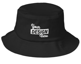 51340b82956 Personalized Bucket Hat l Custom Adults Bucket Hat l Custom Embroidered Hat