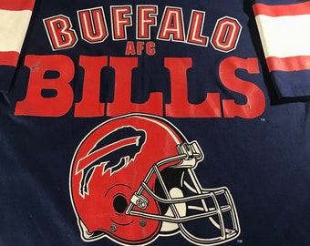 Vintage Buffalo Bills Jersey T Shirt helmet Logo Size Large Made in USA 1514aae7c