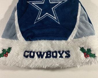 Dallas Cowboys Christmas Hat.Cowboy Hat Santa Etsy