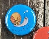 Little bug badges, nature lover, bug badges, kids gift, small gift, postable present, stocking filler, bug pins, slug, snail, worm, spider.