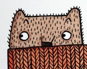 Woolly Jumper Bear A4 Gic...