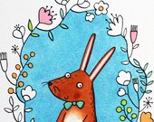 Mr Rabbit A4 Giclee print...