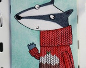 Badger Christmas Card...