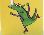 Ninth birthday, Happy birthday, nine year old, Children's birthday, Quite Nice Monsters, ninth birthday card, boys, girls, monster card