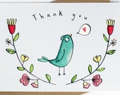 Thank you Bird postcard s...