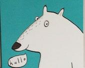 Hullo Bear card, polar be...