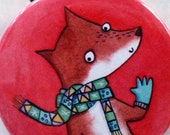 Fox Pocket Mirror, animal...