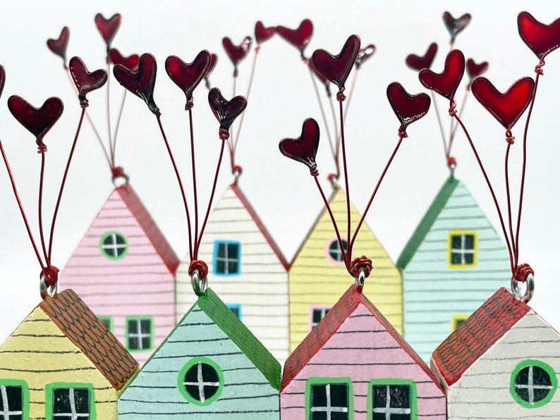Heart House little house decoration home Mothers Day gift image 0