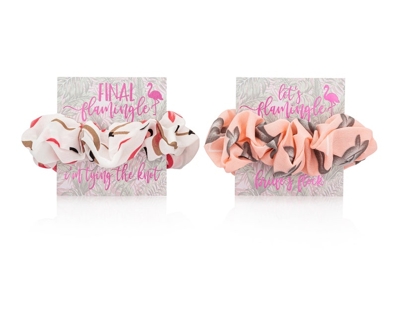 Bachelorette Party Favor Scrunchie-To Have and To Hold Your Hair Back-custom bachelorette party favors-bridal party favors-scrunchie favor
