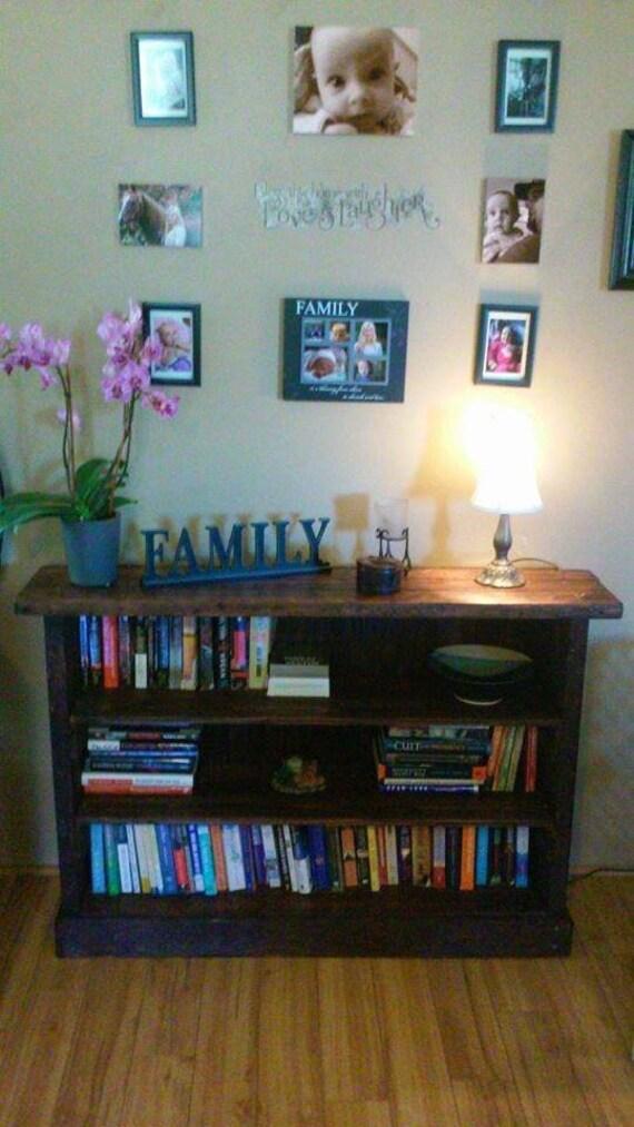 Reclaimed Pallet Wood 3 Level Bookshelf Entertainment Center