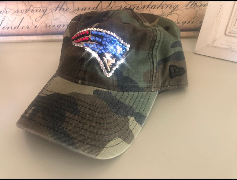 New England Patriots Camouflage Hat made with SWAROVSKI  f7d063d92