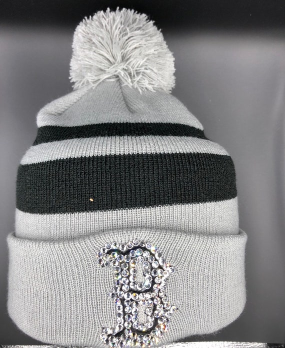 Boston Red Sox knit hat made with Swarovski Crystals  10f0d4e57d5