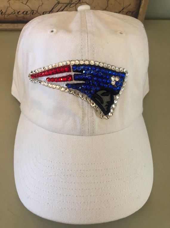 White New England Patriots baseball hat made with Swarovski  e201602f2