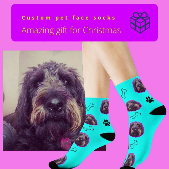 72112c8262 No longer available for xmas delivery Custom pet face socks | Etsy