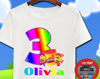 DIGITAL - Play Doh Birthday Shirt. Play Doh. Iron On Transfer. Play Doh  Birthday Shirt DIY 05119a73f