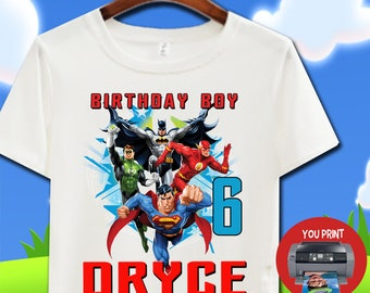 Justice League Birthday Shirt