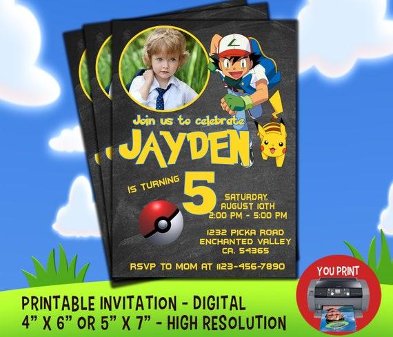 DIGITAL Pokemon Invitation Birthday
