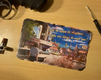 """The forsaken zombies welcome stick or magnet 7.5""""x4.5"""""""
