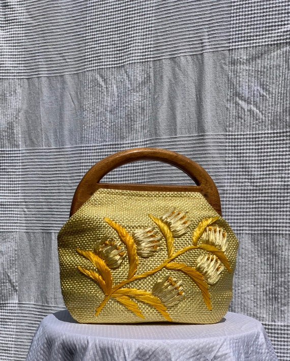 Yellow straw bag