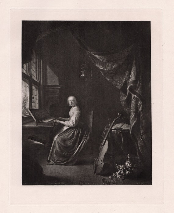 """1655-1659 Gerrit Dou /""""Astronomer by Candlelight/"""" — Giclee Fine Art Print"""