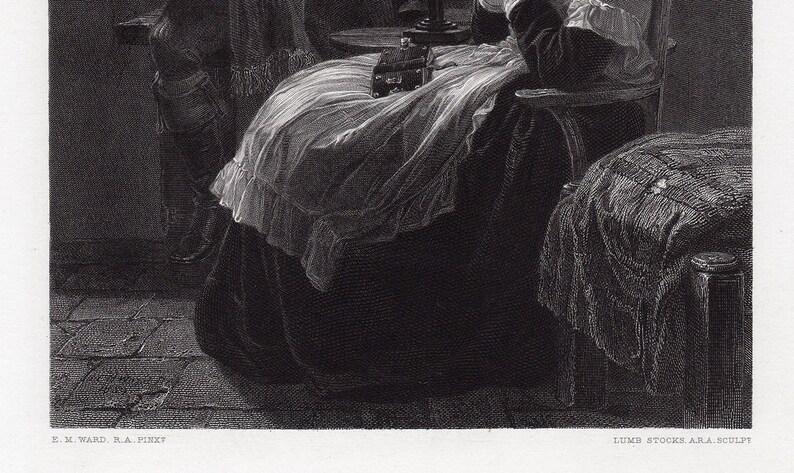 Edward Matthew WARD 1800s Historic Engraving MARIE ANTOINETTE  Custom Framed  Signed Gallery Certificate