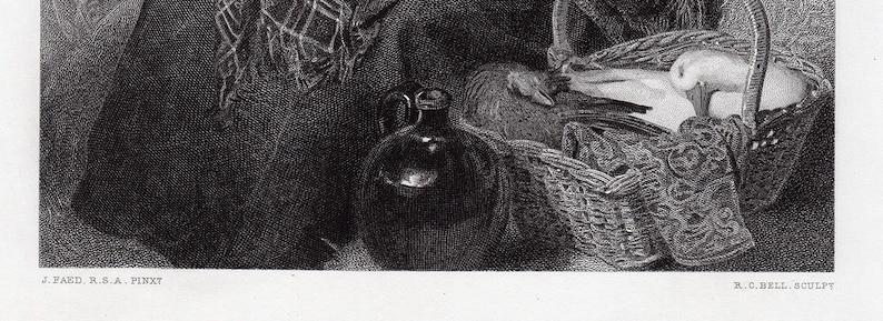 Endearing Thomas FAED 1800s Antique Engraving Edinbro/' Town Professionally Framed Signed COA