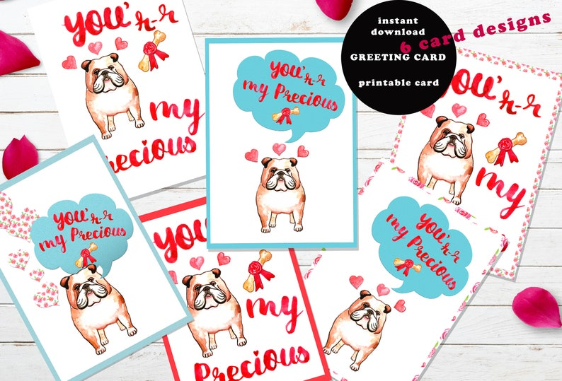 photograph about Funny Printable Valentines Day Cards known as Humorous printable Valentines working day card Bulldog Canine Fans Template Clipart Present for Him For boyfriend For Her naughty Valentine get pleasure from Fixed 5x7