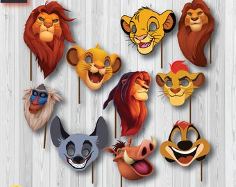 38184dfe1c6 Lion king Photo Booth Props