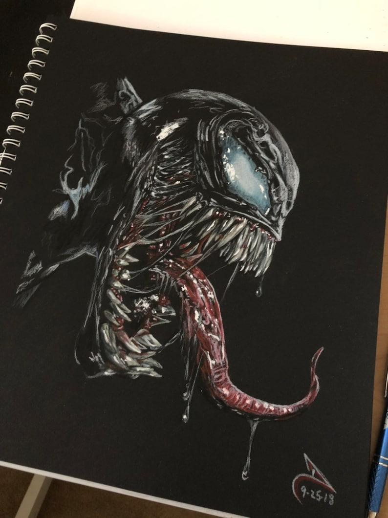 Venom dc comics spider man drawing