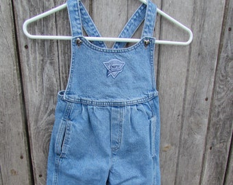 47bfd4dc9cb2 Baby Guess jean denim jean overalls size 4 years Vintage Girl 80's pleated