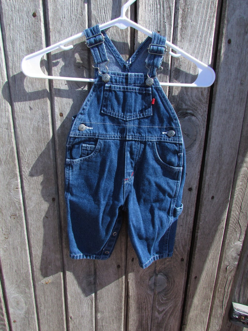 7d84b2845 Baby 6 Months Carter's Jean Bib Overalls Unisex red tag | Etsy