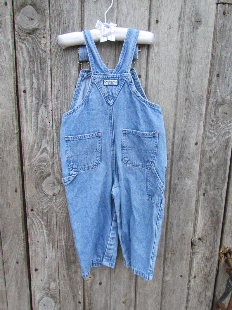 Toddler denim Canyon River Blues 90/'s light blue denim overalls bib for child 24 months baby unisex