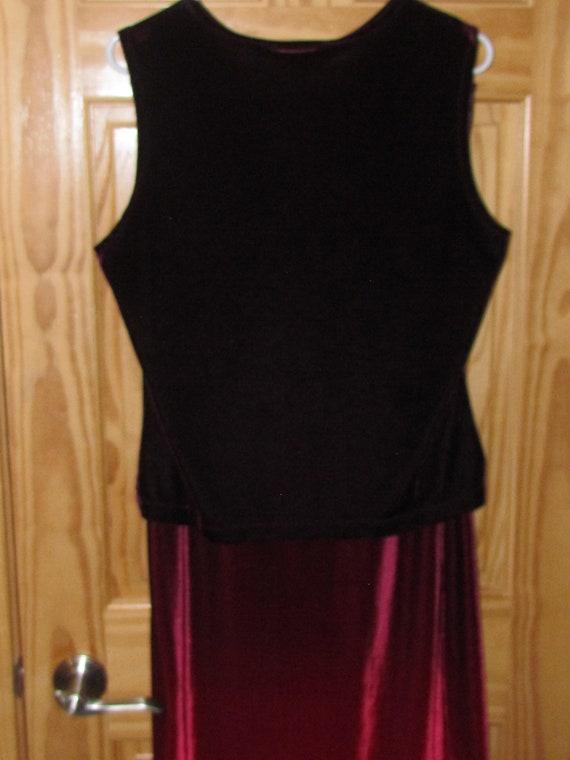 Vintage 1990s KATHIE LEE Collection Black wRed Floral Print A-Line Maxi Skirt~ 6