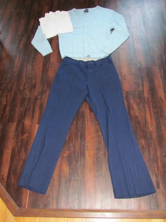 3 piece costume Cousin Eddie Vintage pants, cardig