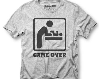 89b4d498 Game over baby,unisex shirt,new dad shirt,new dad gift,fathers day gift,dad  shirt,new dad,gift for dad,dad to be shirt,new daddy shirt