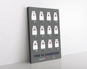 Connecticut Huskies 1999 Men's Basketball Champions Canvas/Print